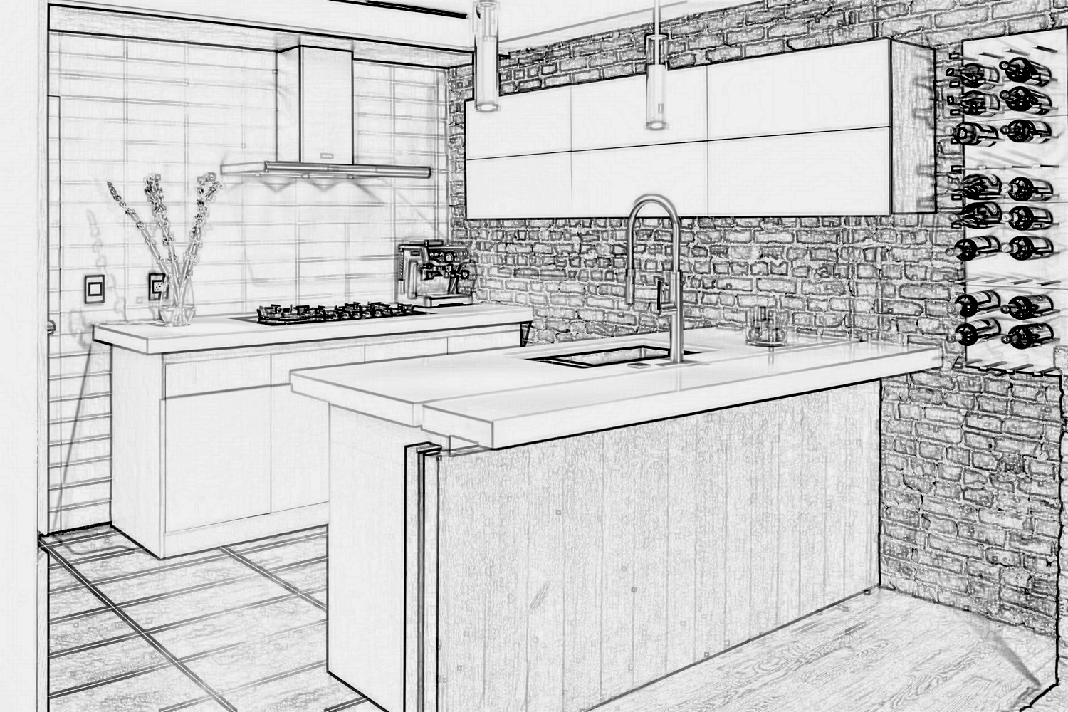 Newton Kitchens & Design - Sketch